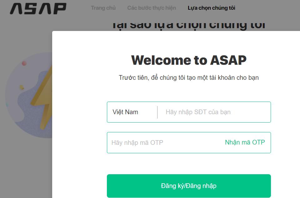 Asap vay tiền online