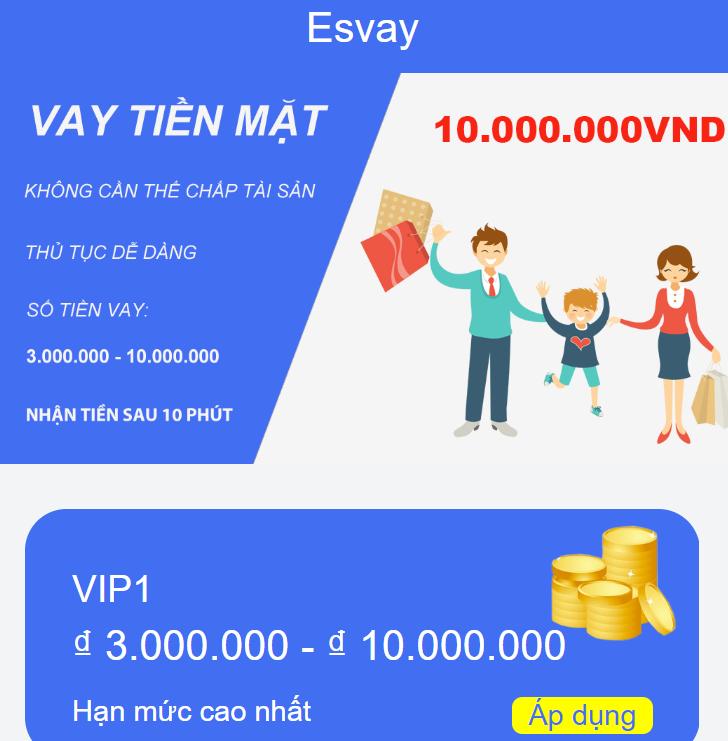 Esvay vay tiền online